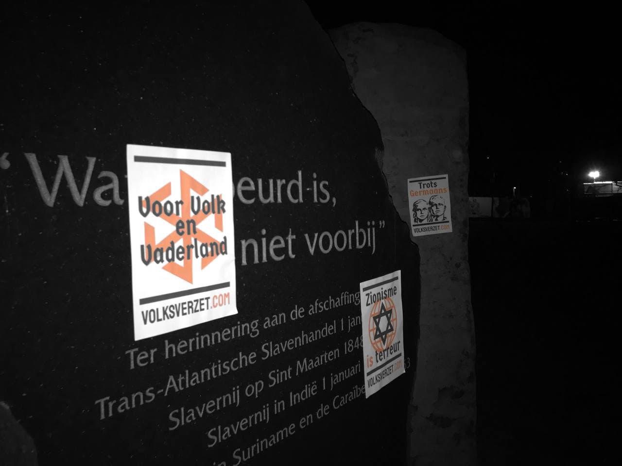 Posters tegen valse monumenten