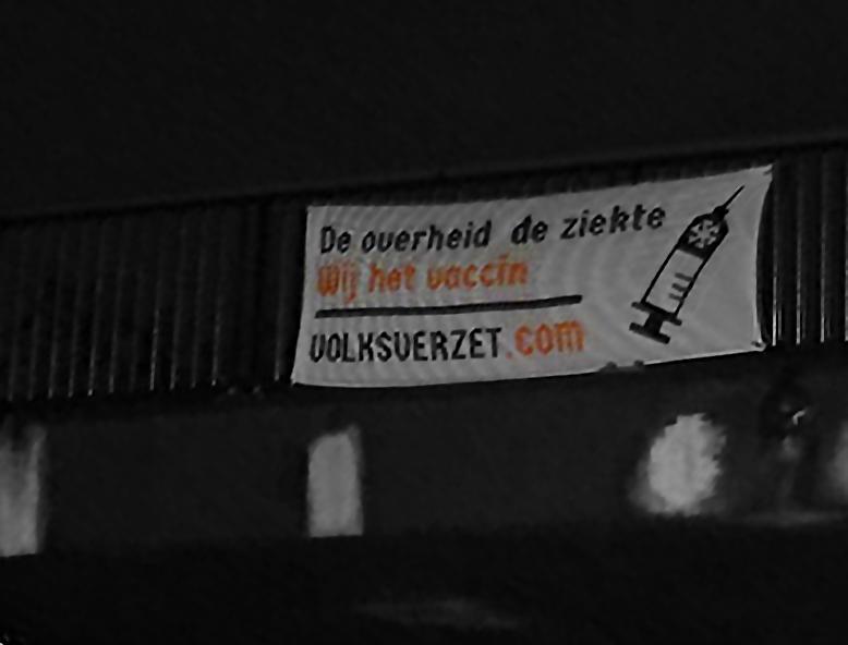 Banner activisme Geleen