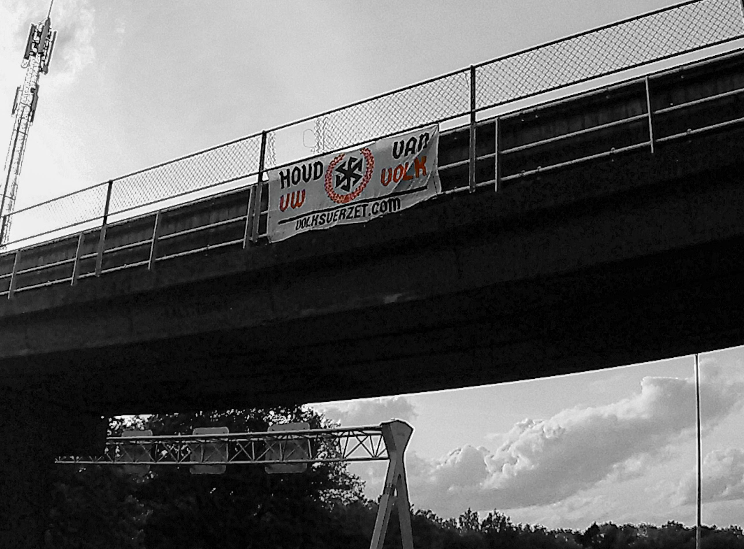 Bijeenkomst en banner activisme Eindhoven