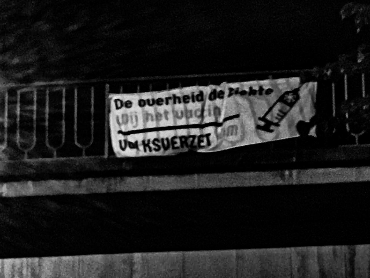 Banner activisme Oostende